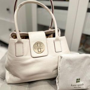 Kate spade white leather handbag